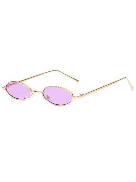 النظارات الشمسية المعدنية الصغيرة البيضاوي خمر - أرجواني  Mobile