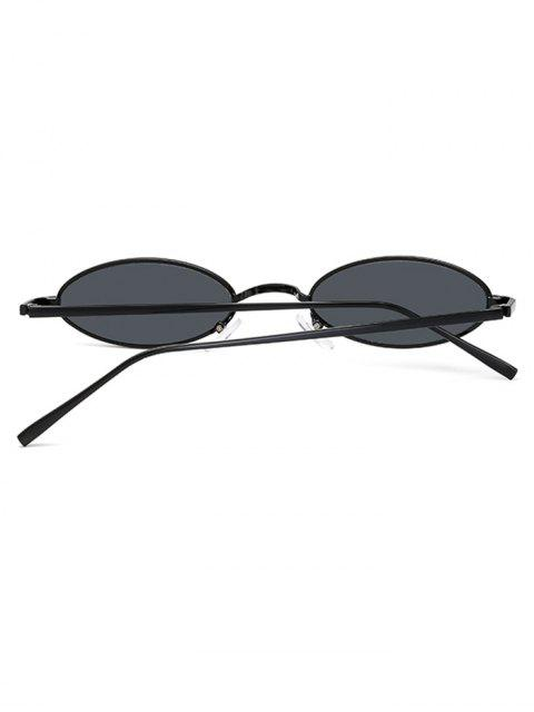 hot Vintage Small Oval Metal Sunglasses - GRAY  Mobile