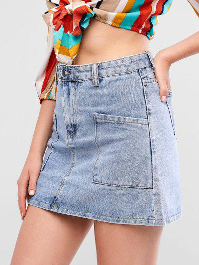 e692f0dc21 2019 Blue Jean Skirts Online | Up To 44% Off | ZAFUL .