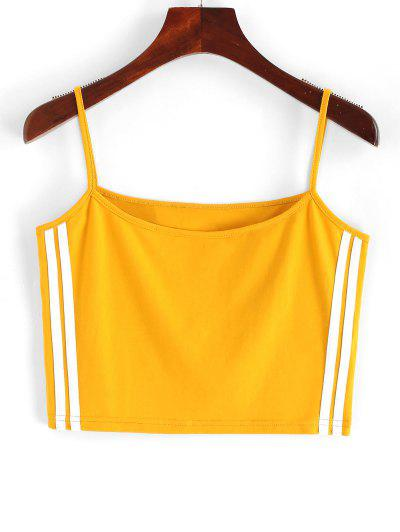 ZAFUL Cropped Racing Stripes Panel Cami Top