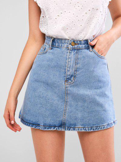 Faldas Para Mujer Faldas De Mezclilla Y Cintura Alta De