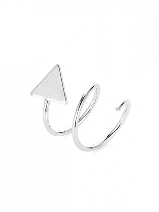 latest Star Triangle Twist Stud Earrings - SILVER TRIANGLE