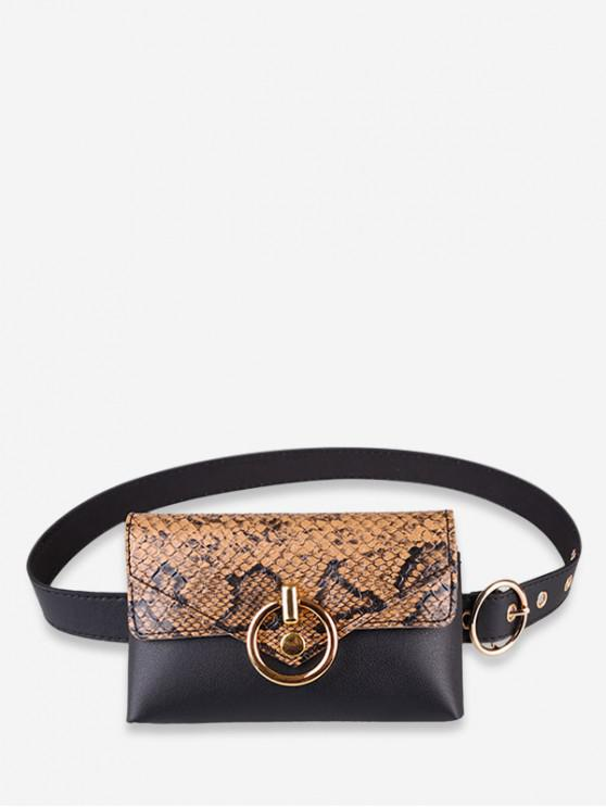 outfits Snakeskin Decoration PU Fanny Pack - CAMEL BROWN