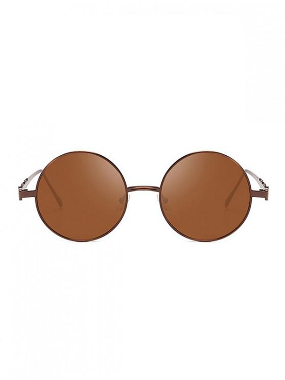 best Round Vintage Metal Frame Sunglasses - BROWN