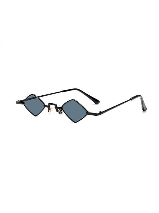 Gafas de sol de rombo de calle al aire libre de metal - Gris