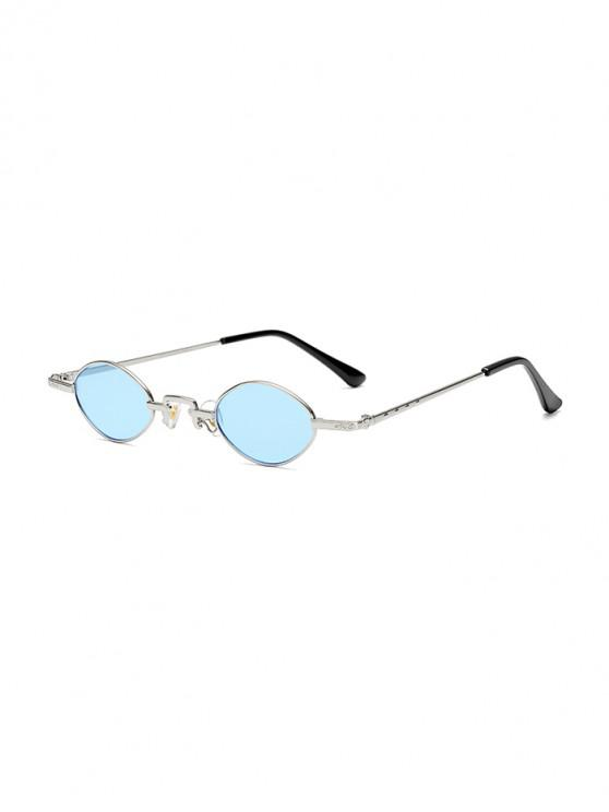 sale Chic Small Metal Frame Sunglasses - CRYSTAL BLUE