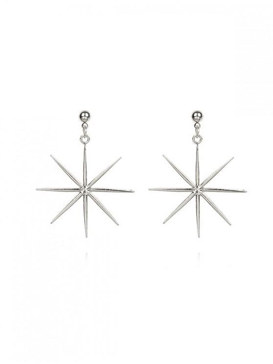 new Rhinestone Decoration Star Drop Earrings - SILVER