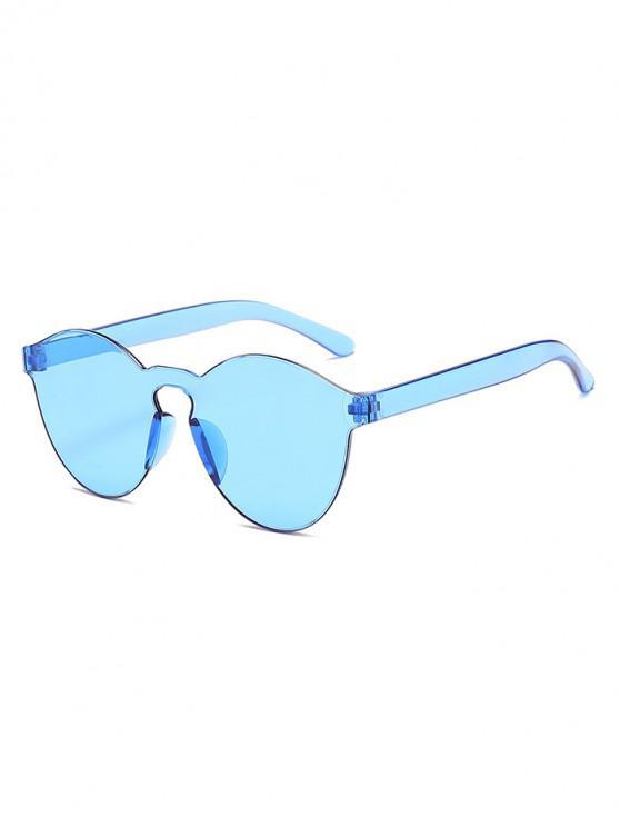 Gafas de sol integrales sin aro color caramelo - Azul Lavanda