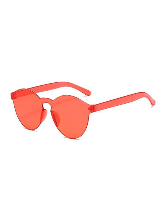 best Candy Color Rimless Integral Sunglasses - FLAMINGO PINK