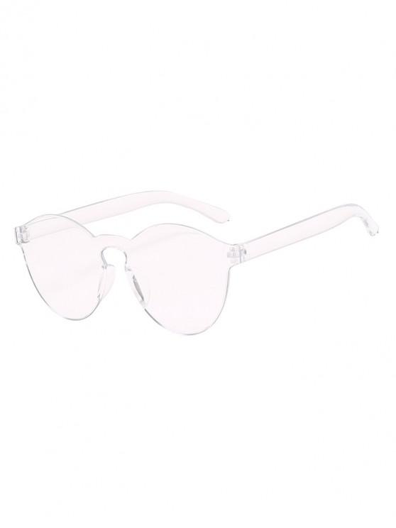chic Candy Color Rimless Integral Sunglasses - TRANSPARENT