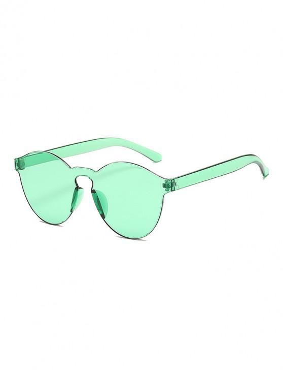 shops Candy Color Rimless Integral Sunglasses - MINT GREEN