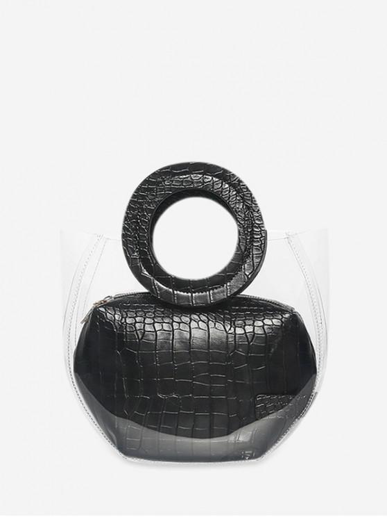 womens Casual Style Waterproof Tote Bag - BLACK