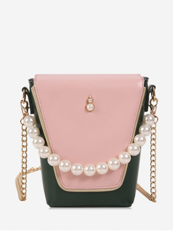 buy Pearl Small Jointed Chain Bag - PINK