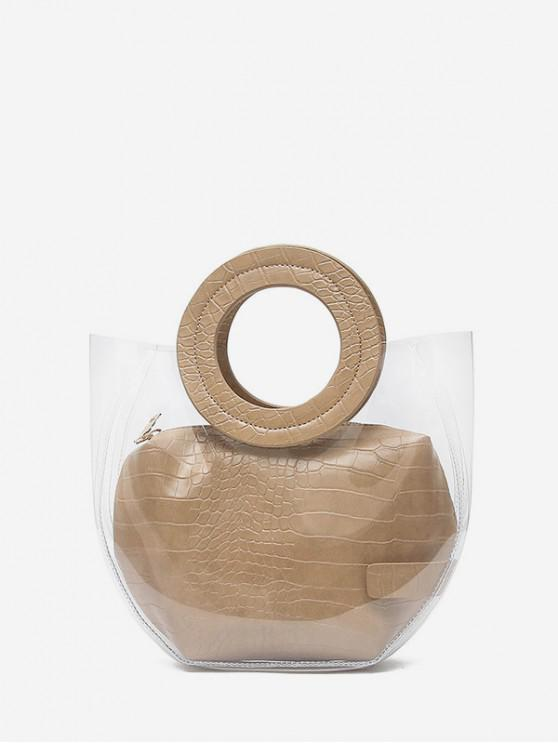 latest Casual Style Waterproof Tote Bag - LIGHT KHAKI