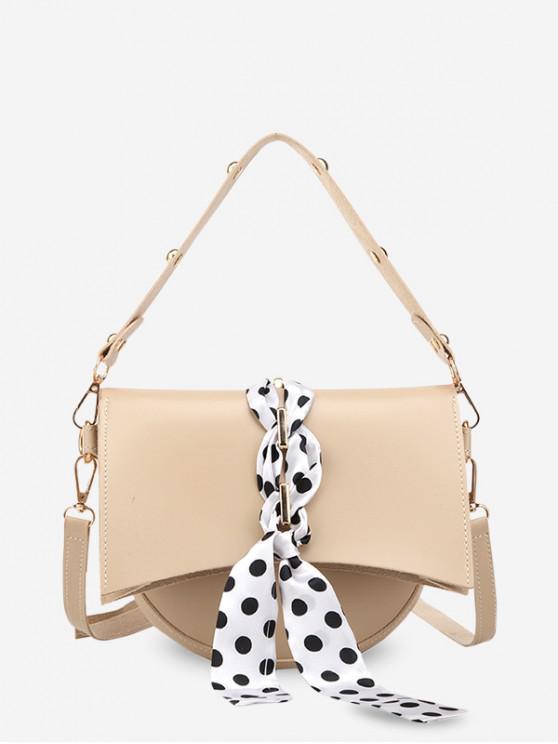 affordable Polka Dot Rivet Design Simple Handbag - KHAKI