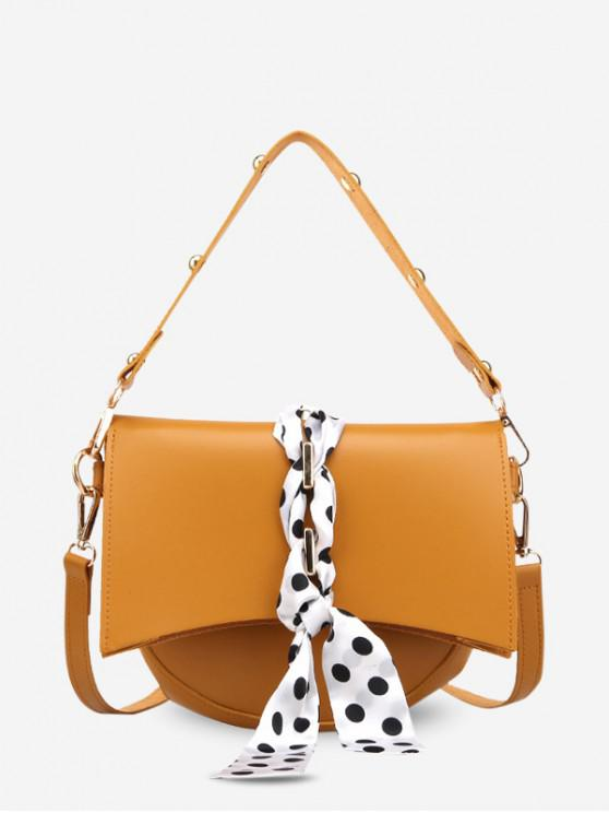 online Polka Dot Rivet Design Simple Handbag - YELLOW