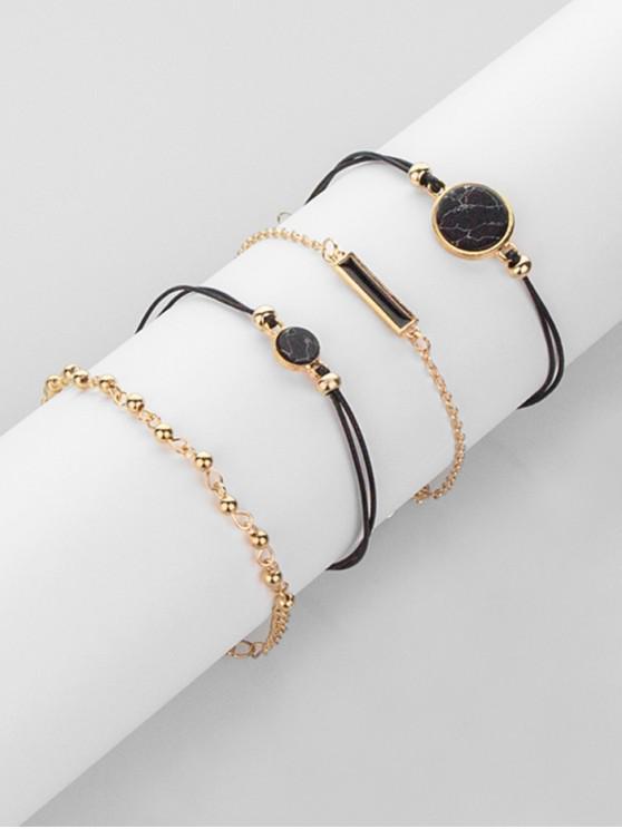 buy Geometric Design Bracelets Set - GOLD