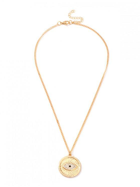 affordable Round Eye Shape Pendant Necklace - GOLD