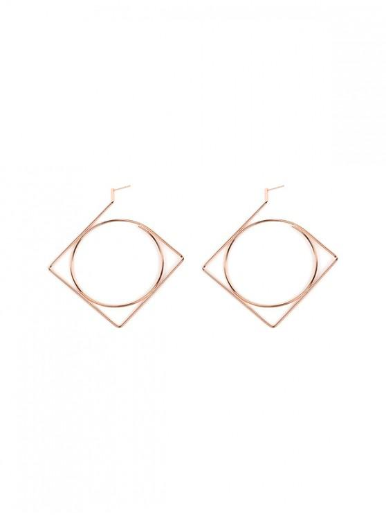 sale Stylish Simple Hollowed Out Dangle Earrings - ROSE GOLD