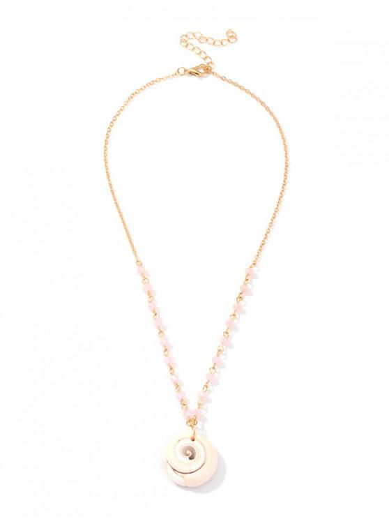latest Simple Bead Shell Chain Necklace - GOLD