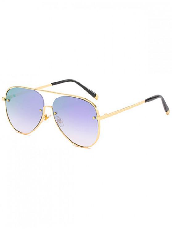 online Metal Driving Ombre Pilot Sunglasses - PURPLE