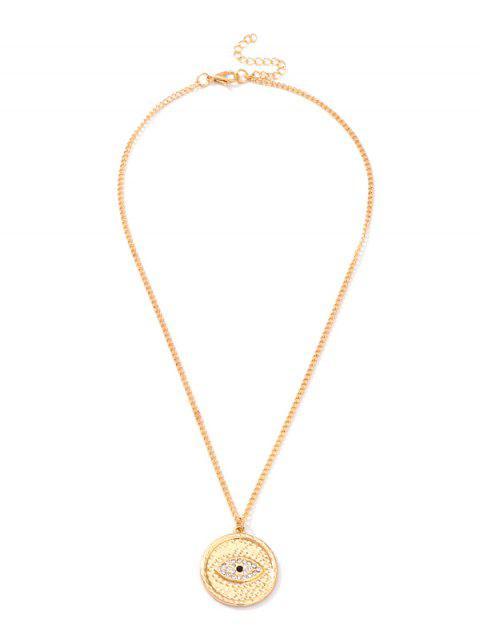 Круглое Ожерелье Форма глаза С подвеской - Золотой  Mobile