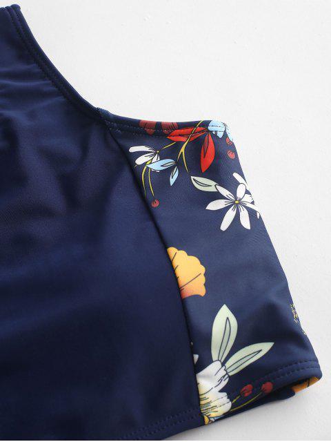 Bañador Tankini con cordones floral ZAFUL - Lapislázuli 2XL Mobile