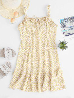 zaful Ruffles Layered Floral Mini Dress
