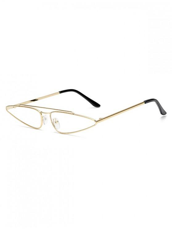 chic Metal Frame Retro Triangle Sunglasses - WHITE