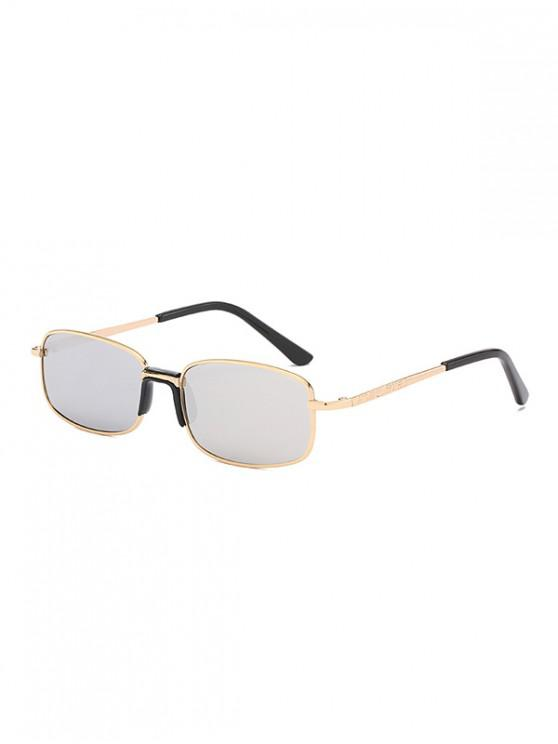 trendy Metal Frame Unisex Rectangle Sunglasses - SILVER