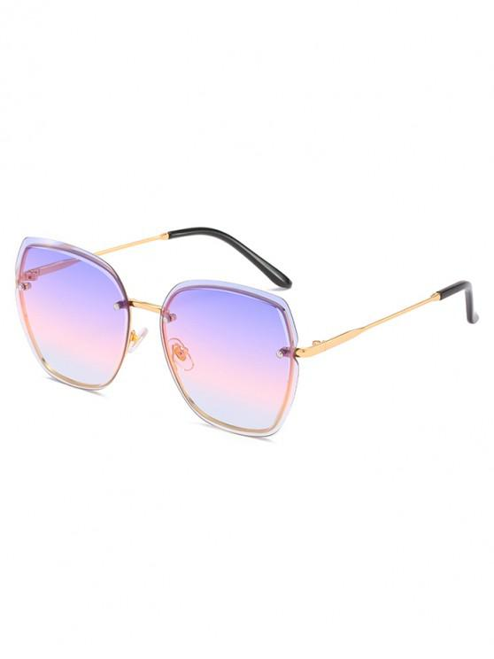 Elegantes gafas de sol sin montura de metal - Púrpura