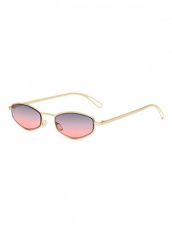 Gafas de sol unisex retro con montura pequeña de metal - Multicolor-A