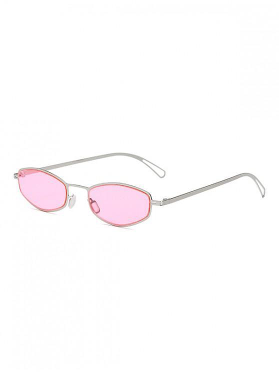 sale Retro Small Metal Frame Unisex Sunglasses - PINK