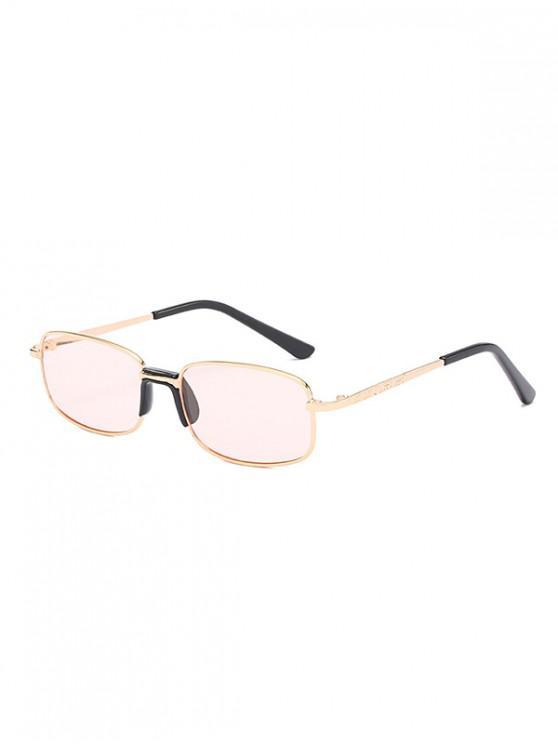 womens Metal Frame Unisex Rectangle Sunglasses - LIGHT PINK
