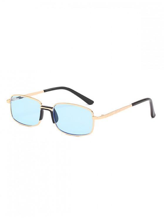 women's Metal Frame Unisex Rectangle Sunglasses - SKY BLUE