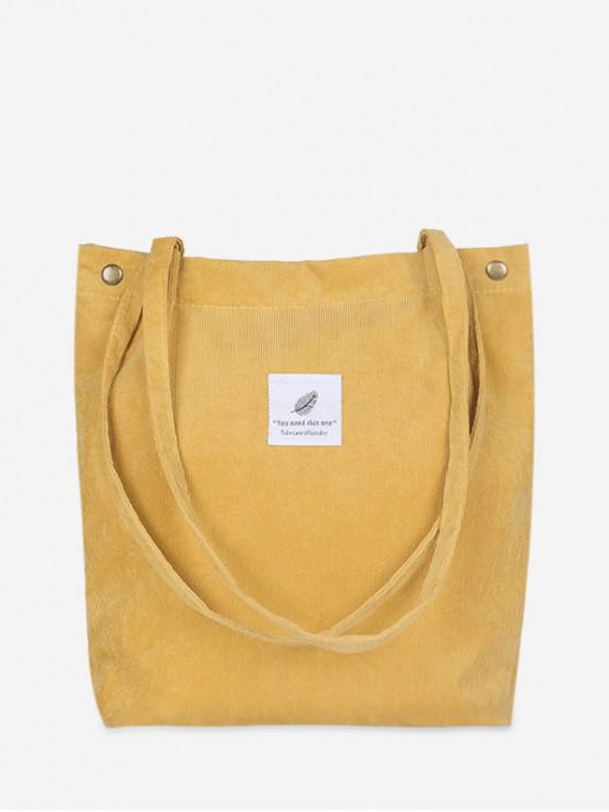 fashion Canvas Simple Tote Bag - SUN YELLOW