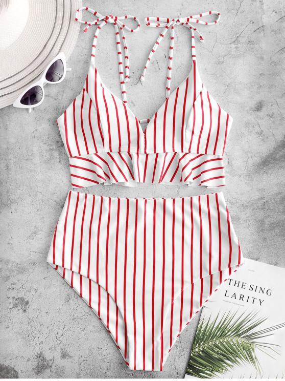 Costumi da bagno di Tankini Swimwear con lacci e stringhe a coda di rondine ZAFUL - Multi Colori-A M