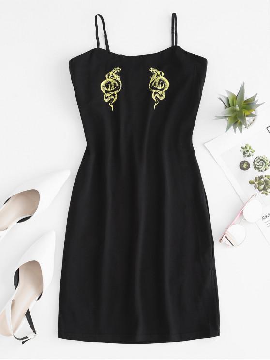 sale Cami Snake Bodycon Mini Dress - YELLOW M