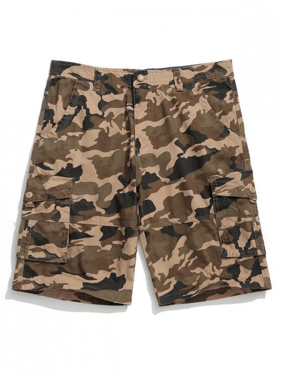 8e94727c6 Pantalones cortos de combate casuales con varios bolsillos con estampado de  camuflaje
