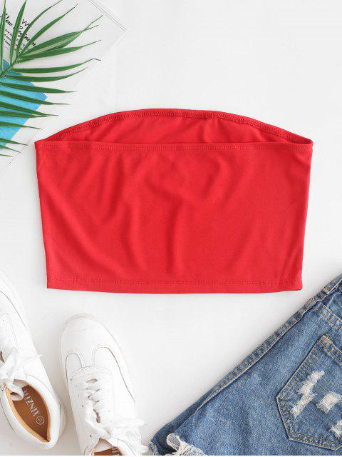 new ZAFUL Stars American Flag Bandeau Top - RUBY RED S Mobile