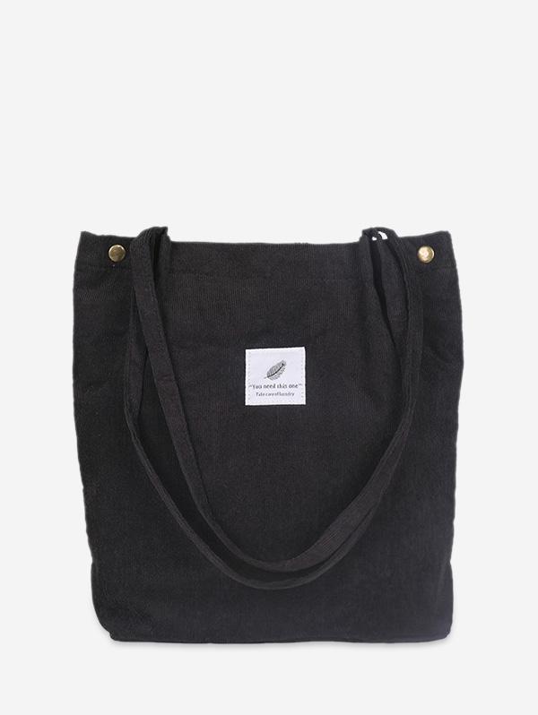 Canvas Simple Tote Bag, Black