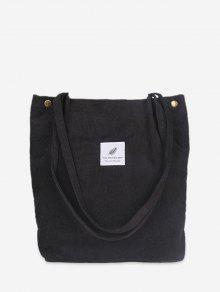 حقيبة قماش بسيطة - أسود