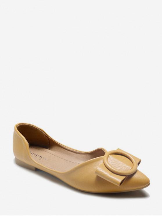 7bd5172a6 BOWKNOT تصميم الانزلاق على أحذية كعب مسطح - الأصفر الاتحاد الأوروبي 39