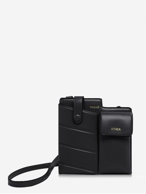 hot Stylish Chic Leather Shoulder Bag - BLACK