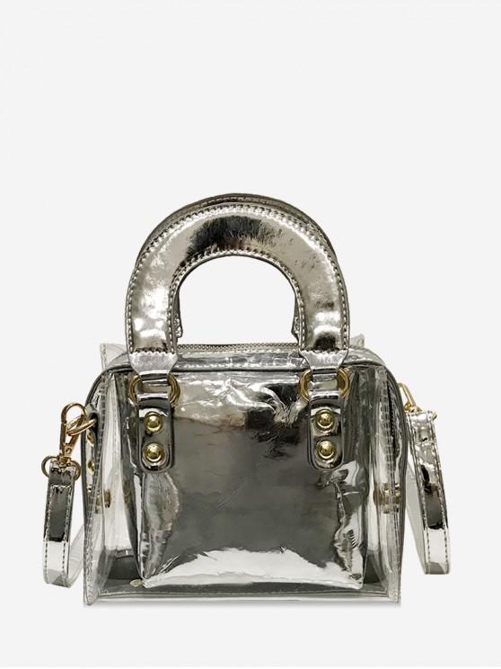 outfits Transparent Small Square Shoulder Bag - SILVER
