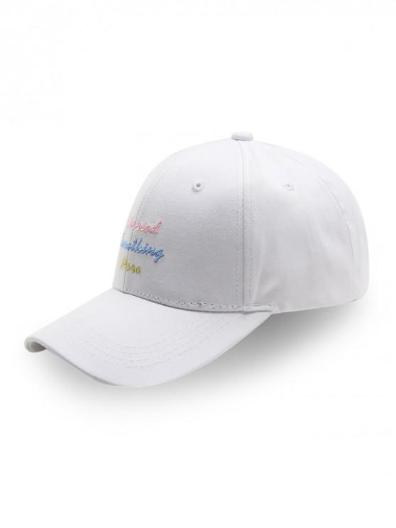 shop Cotton Character Design Baseball Hat - WHITE