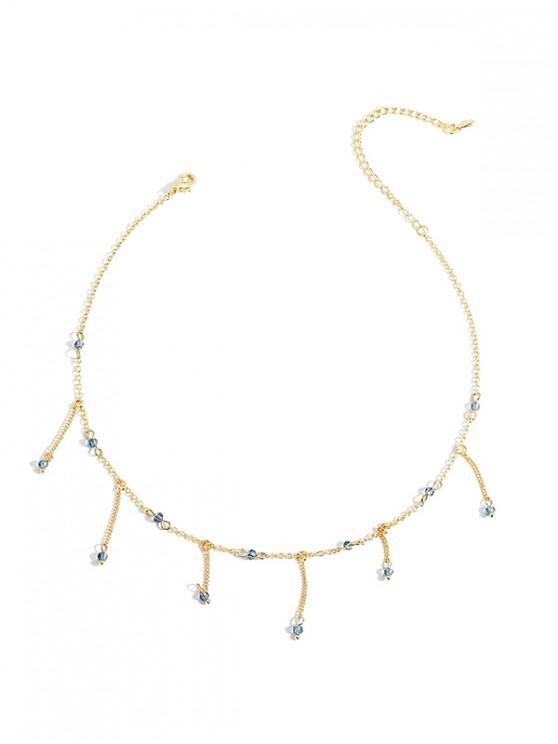 chic Rhinestone Decoration Tassel Alloy Necklace - GOLD