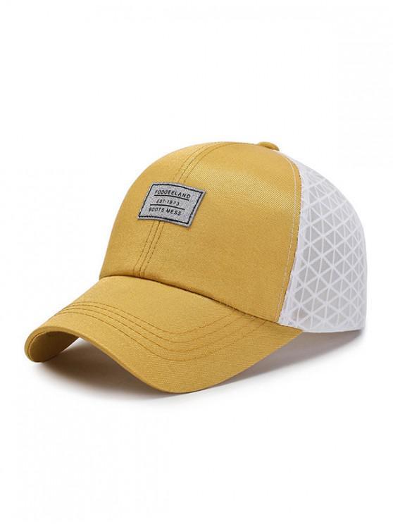 Sombrero de béisbol transpirable de malla de verano - Amarillo