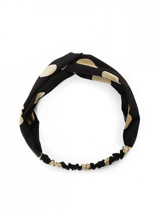 ladies Print Pattern Ribbon Headband - BLACK