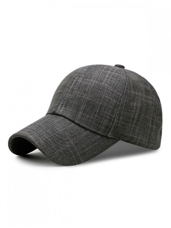 hot Breathable Cotton Simple Baseball Hat - SMOKEY GRAY